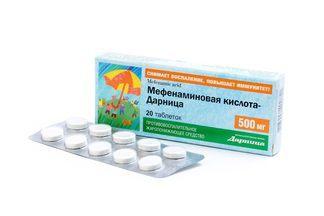 Мефенаминовая кислота: инструкция по применению